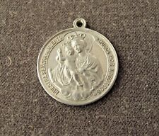 ANTIQUE  OUR LADY DELL' ORTO DEL HUERTO ALUMINUM MEDAL  #1