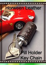 Müller&Son Genuine Brown Horween Leather Pill Holder Key Chain Made in USA