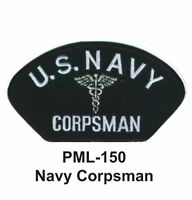 BRAND NEW NAVY CORPSMAN Embroidered Military Large Patch 4""