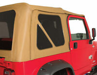 NEW SPICE +3 TINTED windows 2 YEAR WARRANTY 1997-2006 soft top FOR Jeep Wrangler