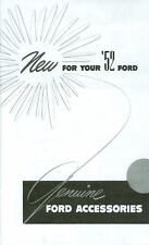 1952 FORD CAR GENUINE ACCESSORIES  BROCHURE