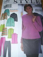 STYLE #2860- LADIES WINTER WARDROBE-PANTS-SKIRT-TOP-VEST & JACKET PATTERN 6-16uc