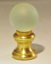 LAMP FINIAL-GLASS ORB LAMP FINIAL-FROSTED