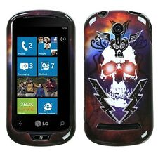 Lightning Skull Hard Case Snap on Cover LG Quantum C900