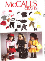 PATTERN to SEW Clothes Accessories for 18in doll hat dog purse belt McCalls 6669