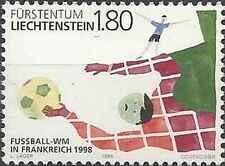 Timbre Sports Football Liechtenstein 1112 ** année 1998 lot 14472