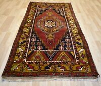 Antique *Never Used* Caucasian Kazak Handmade Dowry Rug 4ft 4' x 9 Free Shipping