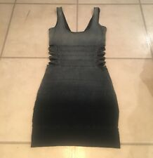 🍀 GUESS L A Spring 2011 Dip Dye Denim Cutout Side Stretch Mini Dress Sz 1