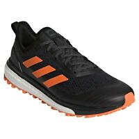 adidas RESPONSE TRAIL SHOES BLACK ORANGE RUNNING TRAINERS SNEAKERS MEN'S FITNESS
