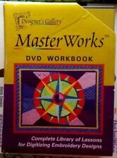 👀MasterWorks Iii Designer's Gallery Tutorial Dvd Workbook Digitizing Embroidery