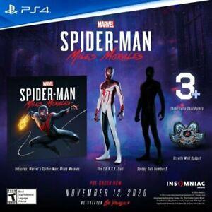 Spider-Man Miles Morales PS5 PS4 Playstation 5 4 Bonus DLC, NO GAME INCLUDED