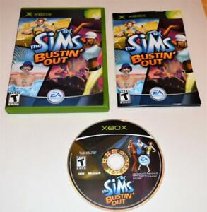 THE SIMS: BUSTIN' OUT MICROSOFT ORIGINAL XBOX GAME CIB COMPLETE W/ MANUAL