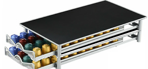 2 x Nespresso Coffee Pod Holder - Stackable - 80 Pods total- Oringal Capsules