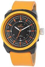 TimeTech Herrenuhr Gehäuse Schwarz Orange Armband Orange 3 ATM Armbanduhr STT610