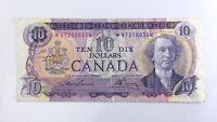 1971 Canada Ten 10 Dollar VT Prefix Replacement Circulated Bank Note H169