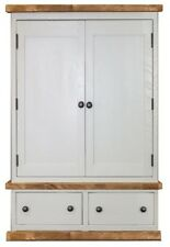 Painted Rustic Double Wardrobe. Plank Bedroom Furniture. Any Size made.