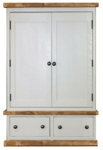 Handmade Rustic Double Wardrobe. Painted Bedroom Furniture. Any Size made.