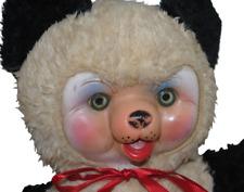 "Vintage Rushton Bear 12"" Rubber Face Toy Bell in Ear"