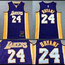 """"""" Black Mamba """" #24 Kobe Bryant Stitch Sewn Los Angeles Lakers Jersey Purple"""