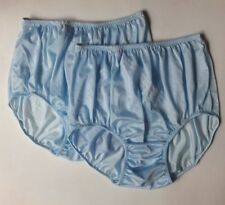 7d6bb552f0b4 2x Lace Panties Size XL Silk Nylon Blue Underwear Style Vintage Women  Knicker