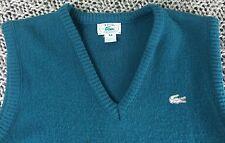 Vintage Women's Size 34 70s 80s Izod Lacoste Green V-Neck Acrylic Sweater Vest