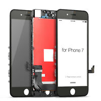 For iPhone 7 LCD Display Touch Screen Digitizer Replacement -Black + Protector