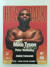 Mike Tyson VS Peter McNeeley 1995 Boxing Fight Program He's Back Good Condition