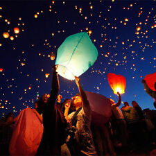 10pcs Mix color Wishing Lanterns Chinese Paper Sky Candle Wedding Flying Party