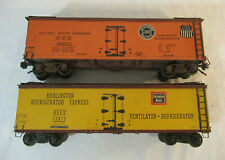2 O Scale Walthers Woodside Reefers - Southern Pacific & Burlington Route