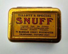 Antique Vintage Snuff Tin / Box Tillott's Special - Nice & Original Advertising