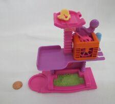 Fisher Price Loving Family Dollhouse PET CARE CENTER Bed SPINNING HAMSTER WHEEL