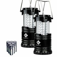 Tools & Home Improvement Pack Portable LED Camping Lantern Flashlights With AA