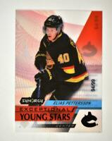 2020-21 UD Synergy Exceptional Young Stars Black #EY-24 Elias Pettersson /99