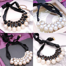 Crystal Pear Statement Beauty Costume Necklaces & Pendants