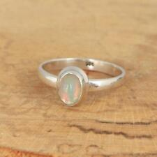 Ethiopian Welo Opal 925 Sterling Silver Solitaire Ring UK Size N 1/2-US 7 N3