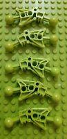Used 5x LEGO Bionicle Toa Leg Item No 32482 Lime Green Tahu Nuva,Tahu Good Cond.
