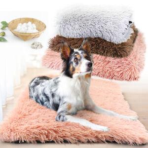 Long Plush House Pet Cat Dog Bed Mat Washable Blanket Cushion Kennel Sleep Bed