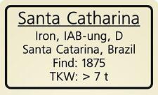 Meteorite label Santa Catharina