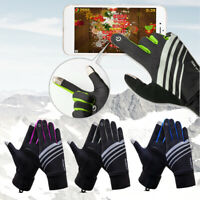Cycling Touch Screen Gel Gloves Waterproof Outdoor Sports Skiing Mitten