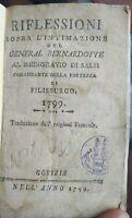 1799 NAPOLEONICA: PAMPHLET SULL'ASSEDIO DI PHILIPSBURG DEL GENERALE BERNADOTTE