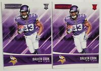 Dalvin Cook VIKINGS 🏈 2017 ROOKIES & STARS RC LOT SILVER + RED FOIL ROOKIE CARD