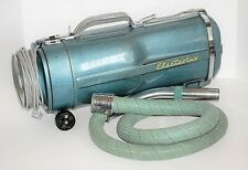Vintage Electrolux Model E Canister Vacuum w/ Braided Hose TESTED 1950's