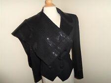 ST JOHN EVENING Skirt Suit Pant Suit Size S Black Paillettes Santana 4 PC
