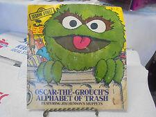 Sesame Street Oscar The Grouch Alphabet Of Trash Book & Record