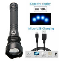 XHP70.2 LED Flashlight USB Rechargeable Torch Zoomable Light 3Mode Lamp 26650