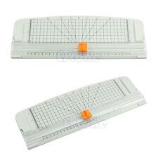 Jielisi 909-4 A4 Guillotine Ruler Paper Cutter Trimmer Cutter White-Orange