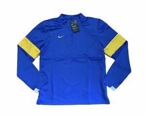 Nike Therma Dri-Fit Half Zip Long Sleeve Top Men's Size Small Swoosh Blue Gold