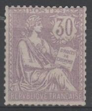 """FRANCE STAMP TIMBRE 128 """" MOUCHON RETOUCHE 30c VIOLET 1902 """" NEUF xx A VOIR M861"""