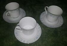 Lot of 3 Sheffield Blue Whisper Cup & Saucer Japan 1985