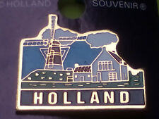 Amsterdam, Holland pin, speld, button with windmill, molen